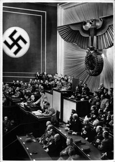 Hitler in the Kroll Opera House trashing FDR in 1939. Two years later, he committed arguably his greatest blunder: declaring war on the United States. From that moment on, Germany was not going to win the war.