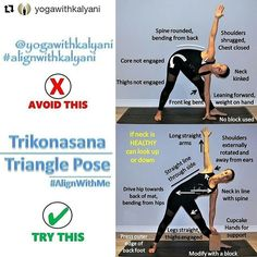 image by  Utthita Trikonasana  Extended Triangle Pose or Extended Three Corners Pose on @yogaalignment . . #yogatips with @yogawithkalyani   . Welcome to Day 6of  #AlignWithMe Yoga Challenge  presented by @yogaalignment . Fellow Hosts: @giuliacroyoga  @yoga.with.en .  Generous Sponsors:  @liforme  @peaks365 @peakslifestyle @natures_source  and doterra . . Remember : .  Always exercise caution. If you have amedical condition consult your physician before practicing yoga Always warm up before…