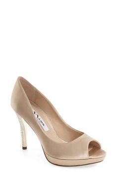 1f38e9dd1ca Nina  Faiza  Crystal Encrusted Platform Sandal (Women) Champagne Shoes