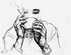 drawing art Black and White coffee Sketch doodle cigarette
