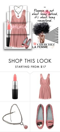 """Beauté Rose"" by stuff4uand4u ❤ liked on Polyvore featuring MAC Cosmetics, Glamorous, Judith Jack, Chiara Ferragni, stuff4uand4u and stuffalicious"