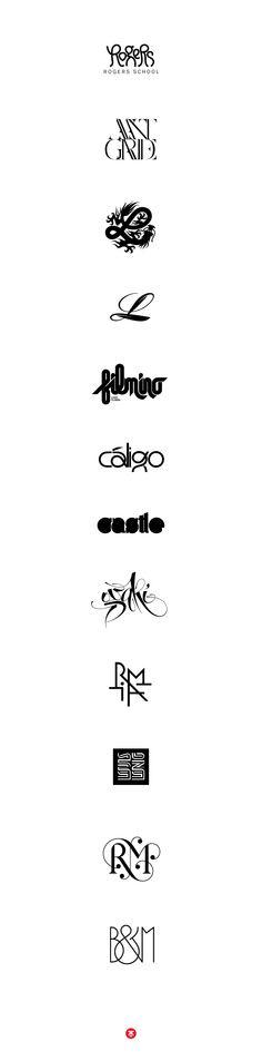 Logotypes and lettering 2 by Áron Jancsó, via Behance