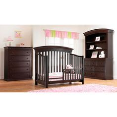 """The Sorelle Verona/Vista EliteToddler Guard Rail, in Espresso, will allow you to convert your child's Verona or Vista Elite 4-in-1 Convertible Crib, in Espresso, into a toddler bed. It helps transition your child from crib to toddler bed, adding a sense of security while allowing for a little more independence. Recommended for children up to age 5. Solid wood construction is crafted entirely of solid Poplar Wood.<br><br> Measures 57"""" W x 15"""" H x 4"""" D. <br><br>Sorelle creates high-quality…"""