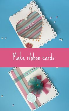 how to make ribbon cards