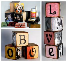 Photo cubes family home decor name diy crafts easy diy blocks easy diy diy crafts easy diy craft diy diy home decor craft decor diy ideas craft ideas