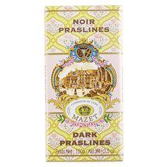Tablette de chocolat Mini labo noir Praslines - Mazet - Etre Gourmand