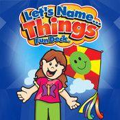 """Let´s name things! - Hur många saker på ett tema kan du. Appen är toppen för modersmålstråning i förskolan. Appen är på engelska, men stäng av ljudet och använd """"rätt"""" språk."""