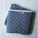 Quilted Throw Blanket: heavy duty canvas, simple and totally doable!