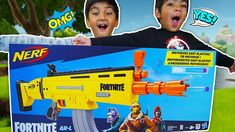 In this video Rumi unboxing Nerf fortnite arl gun with elite and motorised nerf blaster function. This yellow nerf gun uses four batteries to function. Nerf, Play Doh, Kids Toys, Guns, Children, Disney, Childhood Toys, Weapons Guns, Young Children