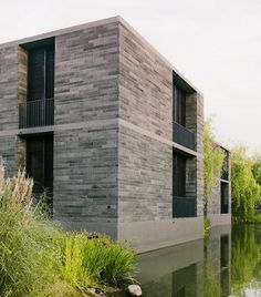 """""""embedded into the lush greenery of the national wetland park of xixi in china. david chipperfield architects have completed a residential project which…"""""""