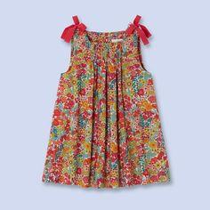 Robe à smocks en tissu Liberty pour bébé, fille                                                                                                                                                                                 Plus