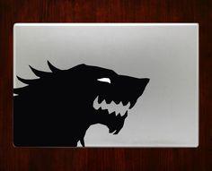 "game of throne stark symbol Decal Sticker Vinyl For Macbook Pro/Air Decal Sticker Vinyl For Macbook Pro Air 13"" Inch 15"" Inch 17"" Inch Decals !!!!!!!!!!!!!! JFEKFHDIEIEBDJDJ"