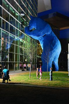 The giant blue bear at the Denver Convention Center, via Flickr.