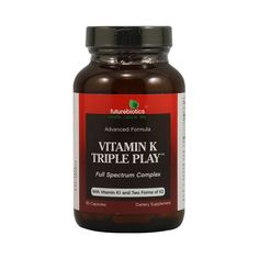 Enjoy FutureBiotics Vitamin K Triple Play - 60 Capsules every day at these amazing prices! Futurebiotics Vitamin K Triple Play Description: Advanced Formula Ful Play 60, Vitamin K1, Organic Recipes, Anti Aging, Mango, Pure Products, Health, Foods, African