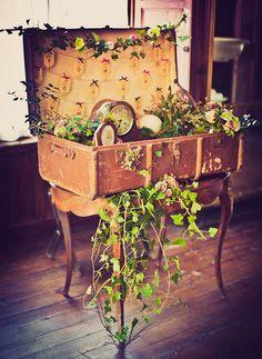 Decoracion de boda con relojes vintage