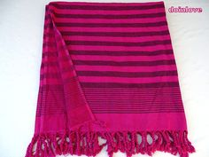 Turkish soft cotton fuchsia colour terry backing side bath