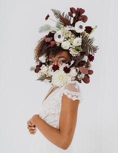 Look no further because the monochromatic floral beauty in this masked inspiration is completely captivating! Wedding Show, Wedding Day, Bridal Portrait Poses, Most Beautiful Images, Bridal Pictures, Bridal Looks, Floral Wreath, Bouquet, Bride