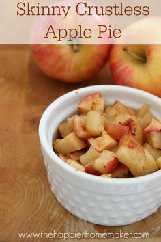 Skinny crustless apple pie- one of the best healthy recipe ideas I've seen on Pinterest! It's the perfect dessert when you're trying to watch what you eat-just like apple pie!