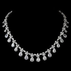 Silver Clear Necklace 2404 sold by blue tinsel