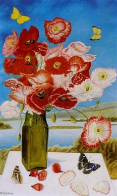 View Mohnblumenstrauss by Adolf Dietrich on artnet. Browse upcoming and past auction lots by Adolf Dietrich. Naive, Poppy Bouquet, Flower Art, Still Life, Poppies, Past, Auction, Floral, Artist