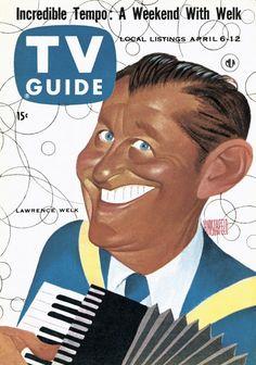 TV Guide, April 6, 1957 - Lawrence Welk