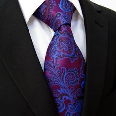 Fuchsia and Blue Floral Paisley
