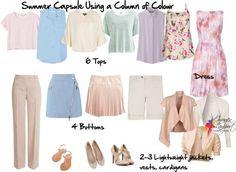 summer capsule wardrobe column of colour