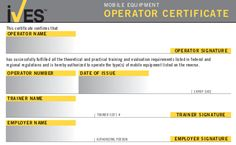 Ehs templates on pinterest wallets safety and training for Forklift licence template
