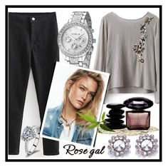 """""""Rosegal fashion set"""" by erina-salkic ❤ liked on Polyvore featuring Versace, vintage, fashionset, freeshipping and rosegal"""