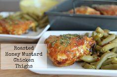 Roasted Honey Mustard BBQ Chicken Thighs Recipe | Divas Can Cook