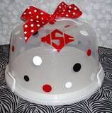 NC State cake plate.  Cute for tail gating.