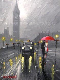 PETE RUMNEY FINE ART MODERN ACRYLIC OIL ORIGINAL PAINTING IMPRESSIONS OF LONDON in Art, Artists (Self-Representing), Paintings | eBay