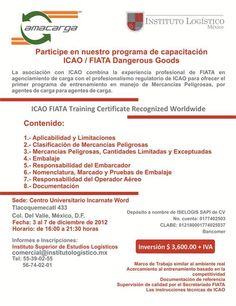 Programa de Capacitación ICAO / FIATA Dangerous Goods | 3 de Diciembre | México DF.