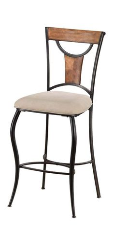 Hillsdale Pacifico Non-Swivel 30 Inch Barstools in Black w/ Cooper Highlights (Set of