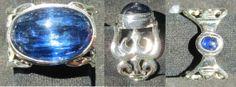 Massive kyanite in a Shiva trident Designed Sterling by KalaKali, €220.00