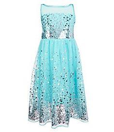 361c5ac2b35 Honey And Rosie Big Girls 7-16 Illusion Neckline Sequin Dress Illusion  Neckline