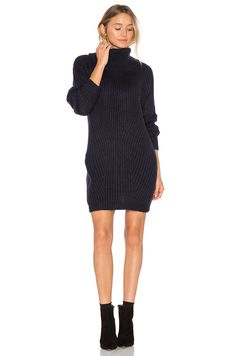 MLM Label Generation Knit Sweater Dress in Navy