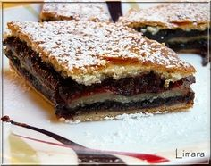 Mákos zserbó Hungarian Recipes, Hungarian Food, Winter Food, Tart, Food To Make, French Toast, Sandwiches, Bakery, Muffin