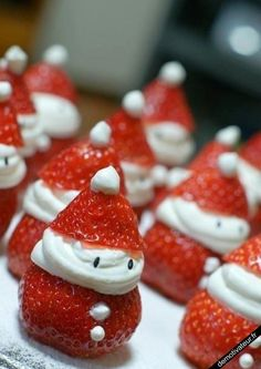 strawberry christmas desert