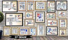 Teaching 5th Grade, 5th Grade Math, Teaching Math, Geometry Words, Math Bulletin Boards, Math Word Walls, Digital Word, Vocabulary Practice, Math Notes
