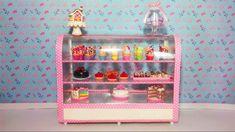 Como fazer Balcão de Confeitaria para Barbie e outas bonecas