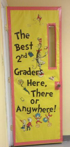 Original Dr. Seuss classroom door I made!                                                                                                                                                     More