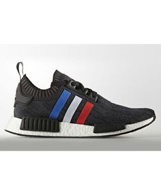 100% authentic bb4b0 5dc80 Adidas NMD Primeknit Tri Colorblack Red White Blue Stripes Trainers Sale UK