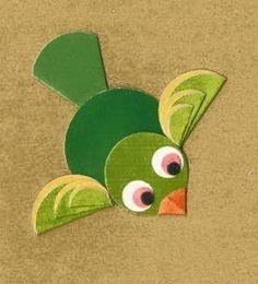imensos animais, flores... tudo com círculos daire_kağıtlardan_yeşil_kuş