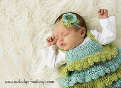 Ruffle Shirt and Rose Headband pattern by Melody Rogers