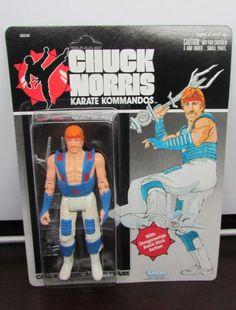 Vintage 1980's Chuck Norris KARATE KOMMANDOS Action Figures by Kenner