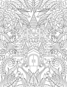 Adult Coloring Book: Magical Forest by JadeSummerColoring on Etsy