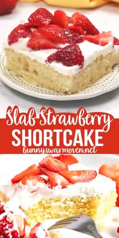 Slab Strawberry Shortcake your delicious ticket to an amazing Summer Treat! Slab Strawberry Shortcake your delicious ticket to an amazing Summer Treat! Dessert Dips, Quick Dessert Recipes, Easy Cake Recipes, Brownie Recipes, Baking Recipes, Dessert Food, Mini Desserts, Easy Desserts, Delicious Desserts