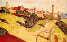 Vieille Ville II (Alte Stadt II)  - Huile sur toile 52 cm x 78,5 cm. 1902. Paris, Centre Georges-Pompidou