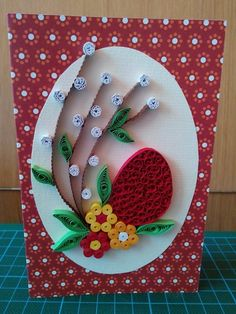 Q Arte Quilling, Paper Quilling Cards, Quilling Work, Paper Quilling Patterns, Quilling Instructions, Quilling Tutorial, Artisanal, Flower Crafts, Easter Egg Crafts